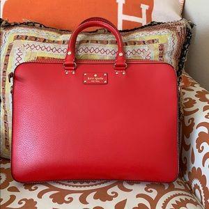 Kate Spade red attaché